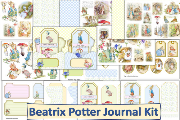 Print on Demand: Beatrix Potter Journal Kit with Ephemera Graphic Crafts By The Paper Princess