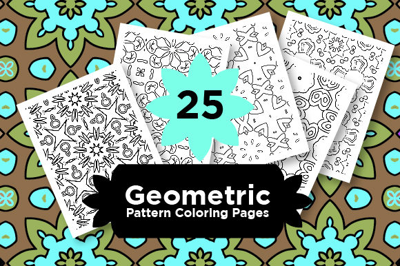 Print on Demand: Bundle - Abstract Shapes Graphic Coloring Pages & Books Adults By Riduwan Molla
