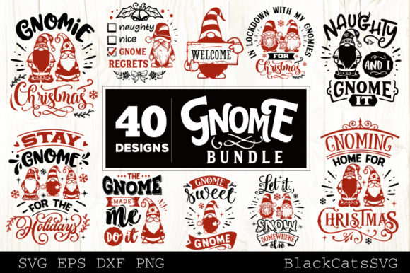 Christmas Gnomes SVG Bundle Gnome Bundle Graphic Download