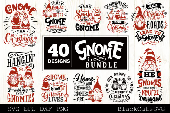 Christmas Gnomes SVG Bundle Gnome Bundle Graphic Item