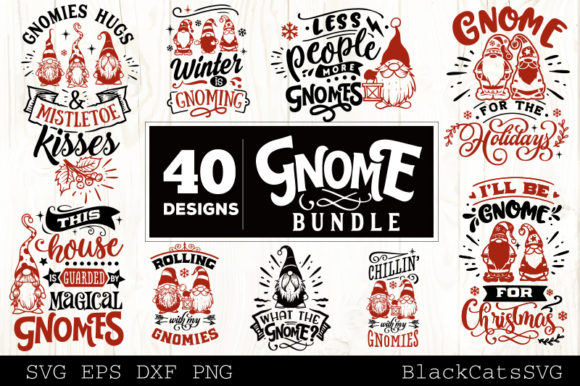 Christmas Gnomes SVG Bundle Gnome Bundle Graphic Design