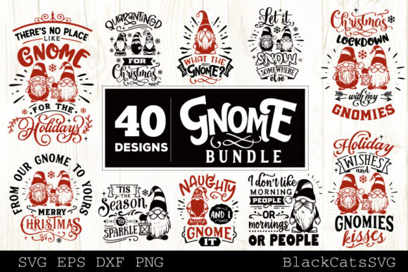 Christmas Gnomes SVG Bundle Gnome Bundle Graphic Preview