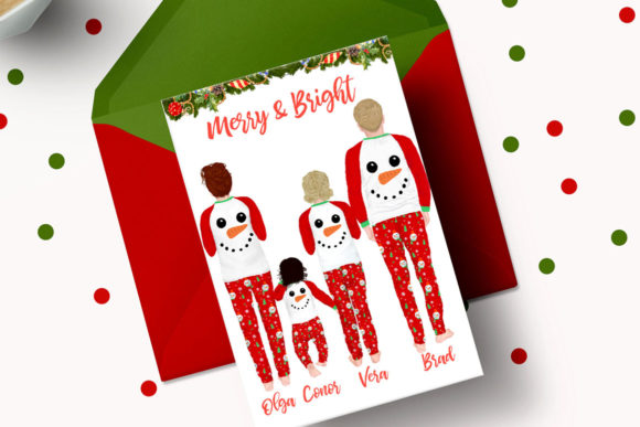 Christmas Family Clipart,Matching Pajama Graphic Preview