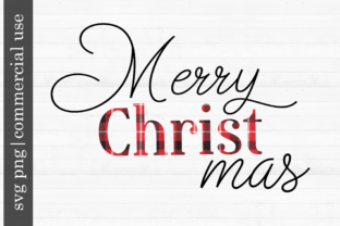 Print on Demand: Christmas Svg Merry CHRIST Mas Graphic Print Templates By inlovewithkats