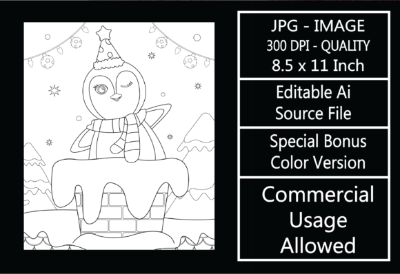 Print on Demand: Coloring Page for Kids - Christmas - 12 Graphic KDP Interiors By design-world