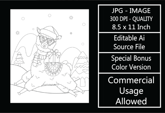 Print on Demand: Coloring Page for Kids - Christmas - 2 Graphic KDP Interiors By design-world