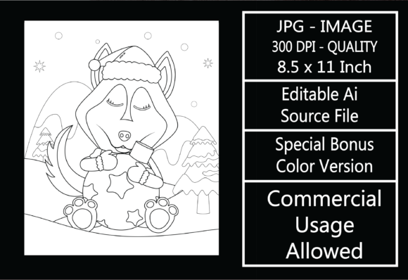 Print on Demand: Coloring Page for Kids - Christmas - 23 Graphic KDP Interiors By design-world