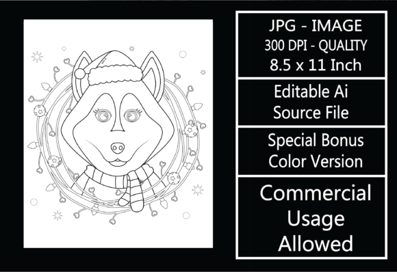 Print on Demand: Coloring Page for Kids - Christmas - 24 Graphic KDP Interiors By design-world