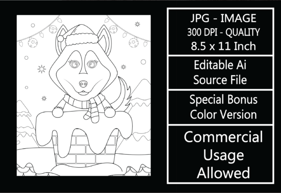 Print on Demand: Coloring Page for Kids - Christmas - 25 Graphic KDP Interiors By design-world