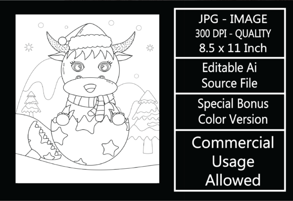 Print on Demand: Coloring Page for Kids - Christmas - 26 Graphic KDP Interiors By design-world