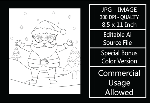 Print on Demand: Coloring Page for Kids - Christmas - 30 Graphic KDP Interiors By design-world