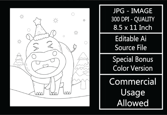 Print on Demand: Coloring Page for Kids - Christmas - 33 Graphic KDP Interiors By design-world