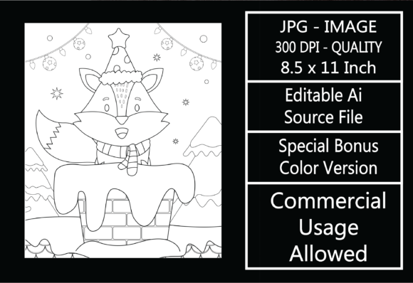Print on Demand: Coloring Page for Kids - Christmas - 4 Graphic KDP Interiors By design-world