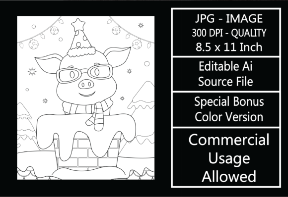 Print on Demand: Coloring Page for Kids - Christmas - 8 Graphic KDP Interiors By design-world