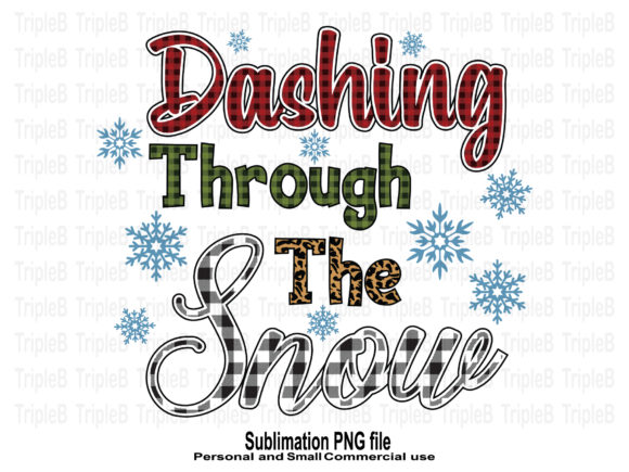Print on Demand: Dashing Through the Snow Sublimation Graphic Crafts By TripleBcraft