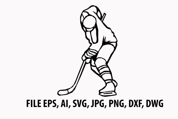 Print on Demand: Ice Hockey Player Svg Graphic Icons By nisakaart