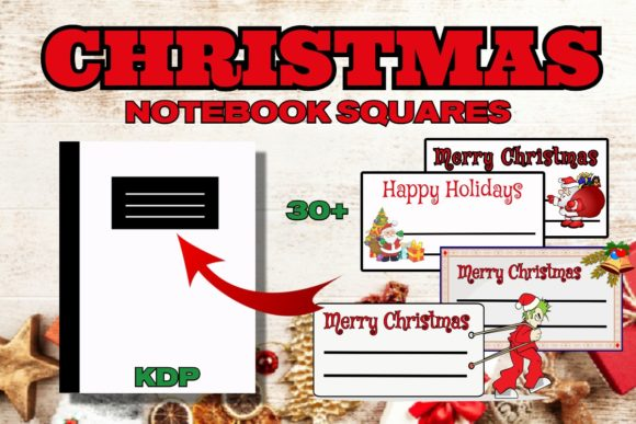 KDP Christmas Notebook Squares Graphic KDP Interiors By .99 Cent Digital Products