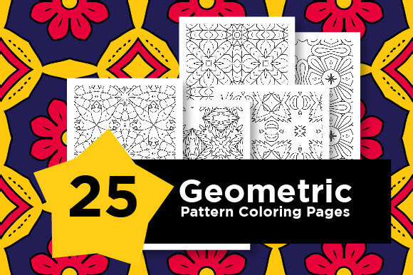 Print on Demand: KDP Geometric Pattern Pages Set Graphic Coloring Pages & Books Adults By Riduwan Molla