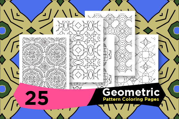 Print on Demand: KDP - Geometric Pattern Set Graphic Coloring Pages & Books Adults By Riduwan Molla