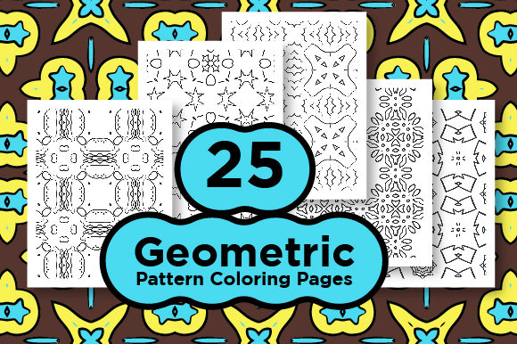 Print on Demand: Kdp Coloring Pages with Geometric Shape Graphic Coloring Pages & Books Adults By Riduwan Molla
