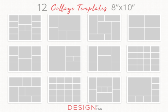 Print on Demand: Photo Collage Template Psd Graphic Graphic Templates By DesignItfor