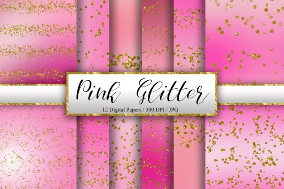 Pink Glitter Background Digital Papers Graphic Backgrounds By PinkPearly