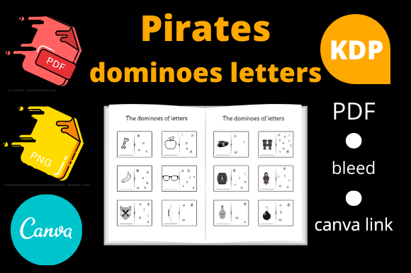 Print on Demand: Pirates Dominoes Letters Kids Activity Graphic KDP Interiors By Dunkyshot