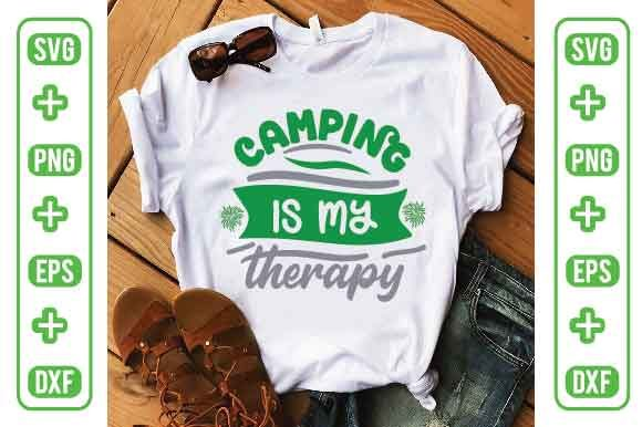 Camping is My Therapy Graphic Crafts By Printable Store