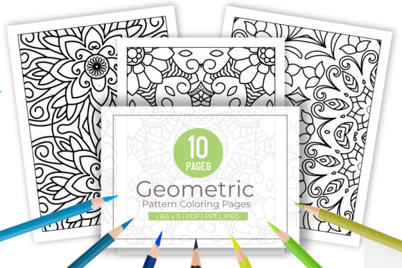 Print on Demand: 10 Abstract Adult Coloring Page Graphic Coloring Pages & Books Adults By doridodesign