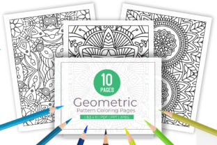 Print on Demand: 10 Awesome Pattern Coloring Pages Graphic Coloring Pages & Books Adults By doridodesign