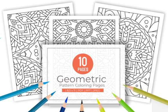Print on Demand: 10 Fun Abstract Pattern Coloring Page Graphic Coloring Pages & Books Adults By doridodesign