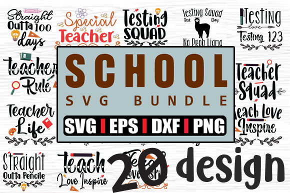 20 School Quotes Svg Bundle Graphic By Svg In Design Creative Fabrica