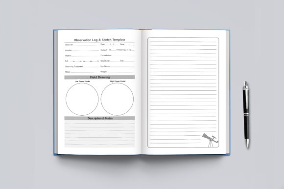 Astronomy Observation Log Book Graphic Design