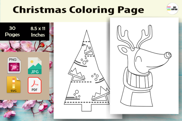 Print on Demand: Christmas Coloring Page Kids 5- KDP Graphic Coloring Pages & Books Kids By Sei Ripan