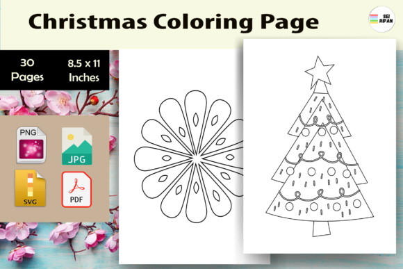 Print on Demand: Christmas Coloring Page Kids 4 -KDP Graphic Coloring Pages & Books Kids By Sei Ripan