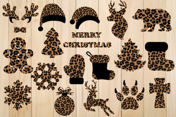 Print on Demand: Christmas Leopard Plaid Designs SVG Graphic Crafts By yulnniya