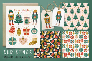 Print on Demand: Christmas Super Pack. Elements Patterns. Graphic Illustrations By FoxBiz