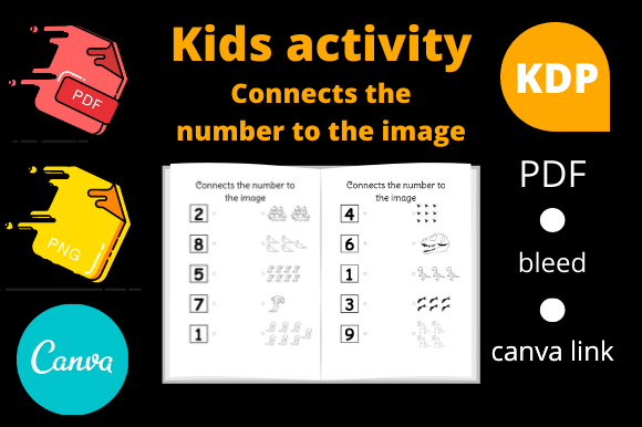 Print on Demand: Connects the Number to the Image for Kid Graphic KDP Interiors By Dunkyshot