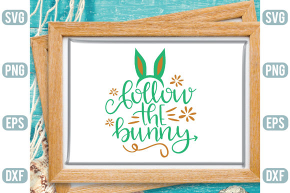 Follow the Bunny Graphic Crafts By Printable Store