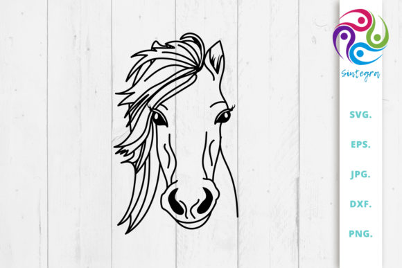 Print on Demand: Gorgeous Horse Svg Cut File Graphic Crafts By Sintegra
