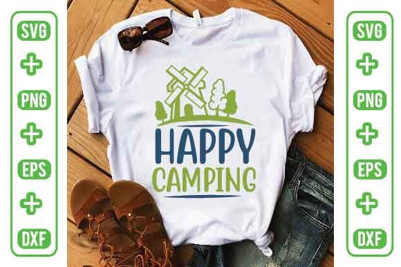 Happy Camping Graphic Crafts By Printable Store