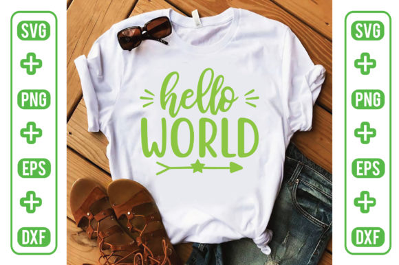 Hello World Graphic Crafts By Printable Store