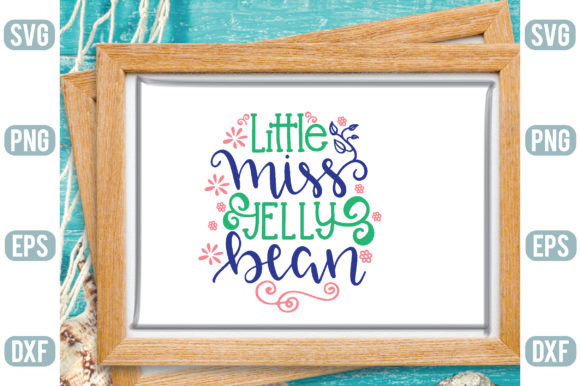Little Miss Jelly Bean Graphic Crafts By Printable Store