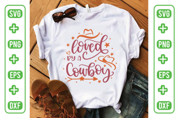 Loved by a Cowboy Graphic Backgrounds By Printable Store