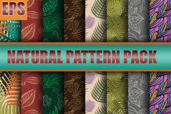 Print on Demand: NATURAL PATTERN DESIGN PACK 2020 Graphic Patterns By ahmaddesign99