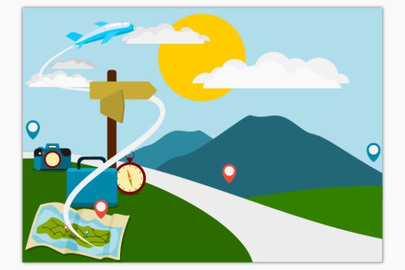 Road Landscape Travel Illustration Graphic Illustrations By faqeeh