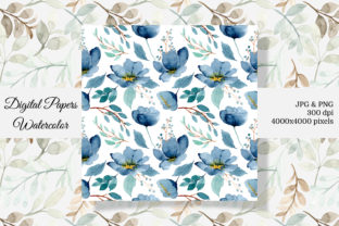 Print on Demand: Seamless Pattern Floral Watercolor 7 Graphic Patterns By asrulaqroni