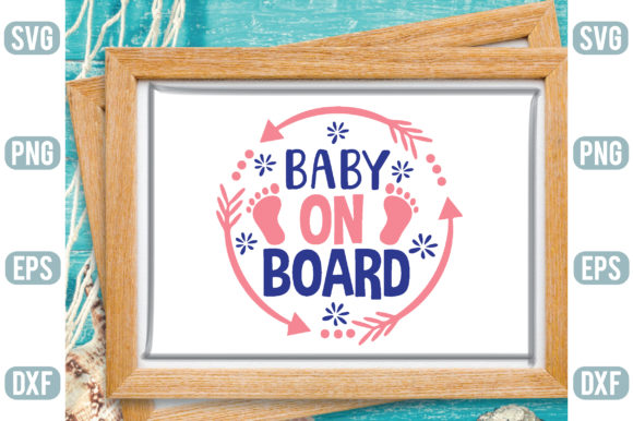 Baby on Board Graphic Backgrounds By Printable Store