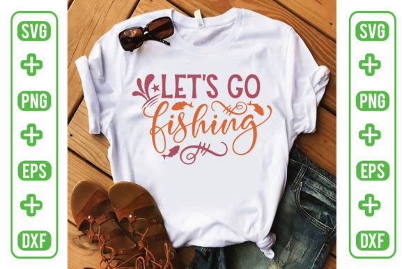 Let's Go Fishing Graphic Crafts By Printable Store