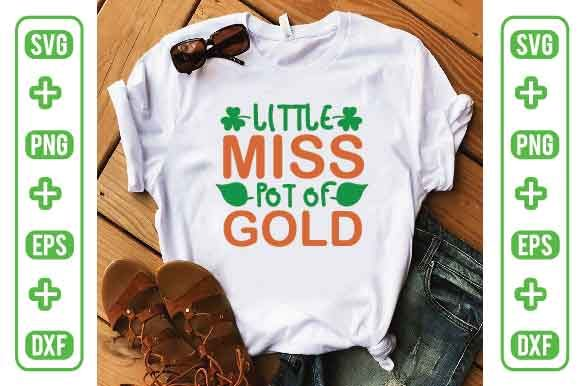 Little Miss Pot of Gold Graphic Crafts By Printable Store